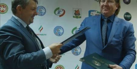 Embedded thumbnail for Подписание соглашения между Фондом Тимченко и Федерацией хоккея Республики Татарстан